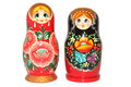 Russian matryoshka doll on white background Royalty Free Stock Photo