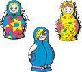 Russian matryoshka dolls Stock Image