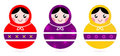 Russian Matryoshka Dolls collection Stock Photo