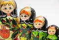 Russian matryoshkas Royalty Free Stock Photo