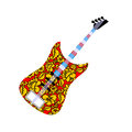 Russian national guitar. Royalty Free Stock Photo