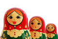 Russian Nesting Dolls Stock Photography