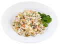 Russian Olivier salad Royalty Free Stock Photos