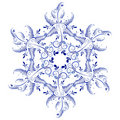 Russian ornaments. New Year's snowflake. Royalty Free Stock Photography