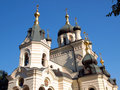 A Russian-Orthodox cathedral Stock Photography
