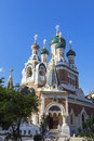 Russian Orthodox Cathedral in City of Nice, France Royalty Free Stock Photo