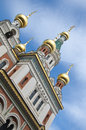 Russian orthodox cathedral in vienna this built the garden of the embassy named st nikolai was refurbished Royalty Free Stock Photo