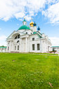 Russian orthodox church beautifully decorated at the spasso yakovlevsky monastery in rostov veliky yaroslavl oblast russia Royalty Free Stock Image
