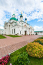 Russian orthodox church beautifully decorated at the spasso yakovlevsky monastery in rostov veliky yaroslavl oblast russia Stock Photography