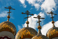 Russian Orthodox church domes Stock Photography