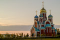 Russian Orthodox Church in honor of Saint George in the Kaluga region (Russia). Royalty Free Stock Photo