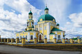 Russian orthodox church in honour of sacred nikolay chudotvortsa located village nikolo pavlovsk sverdlovsk area russia Royalty Free Stock Image