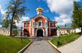 Russian orthodox church iversky monastery in valdai russia Royalty Free Stock Photos