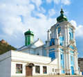 Russian Orthodox church in Kremenets town Stock Images