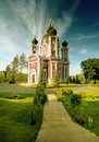 Russian ortodox cathedral Stock Photo