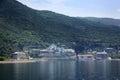 Russian panteleimon monastery mount athos greece Stock Image