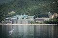 Russian panteleimon monastery mount athos greece Stock Images