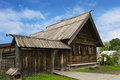 Russian peasant house of the nineteenth century wooden Stock Photography