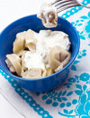 Russian pelmeni. Royalty Free Stock Photography
