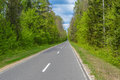Russian road in nowhere Royalty Free Stock Photo