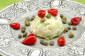 Russian salad typical of the mediterranean diet Stock Images
