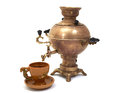 Russian samovar with tea cup Royalty Free Stock Photos