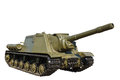 Russian self-propelled gun ISU152 isolated Stock Image
