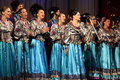 Russian songs folk ensemble kazachya volnitsa in ekaterinburg russia september beautiful ethnic dance and patriotic Royalty Free Stock Image