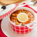 Russian soup - solyanka. Royalty Free Stock Photo