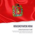 Russian state Krasnoyarsk Krai flag.