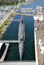 Russian submarine a of the type scorpion from wwii that can be visited in long beach california the photo was taken from Stock Photo