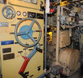 Russian submarine u submarine interior museum in the port of hamburg control position submarines Stock Images