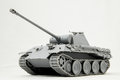 Russian tank the model king tiger of ww on a white background Stock Photography