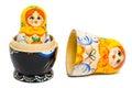 Russian toy matrioska Royalty Free Stock Photo