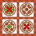Russian traditional ornament of severodvinsk regio decorative ancient pagan elements for northern region dvina river illustration Stock Photos