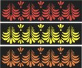 Russian traditional patterns in vector Stock Photo