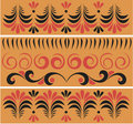 Russian traditional patterns in vector Stock Images