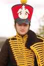 Russian uniform of cavalry. Stock Image