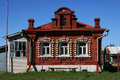 Russian Village Brick House Stock Image