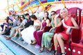 Russian   wedding  in the amusement park Royalty Free Stock Photo