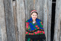 Russian woman in a traditional dress Royalty Free Stock Photo