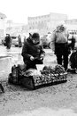 Russian Women Selling Herbs and Onions