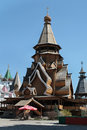 Russian wooden church. Moscow Royalty Free Stock Image