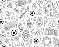 Russian World cup soccer football championship 2018 seamless background pattern