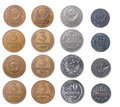 Russische coins.isolated Royalty-vrije Stock Foto's