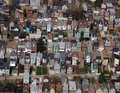 Rust Belt Row Home Aerial Stock Photo