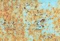 Rust On Blue Steel Background