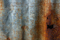 Rust on corrugated iron background Royalty Free Stock Image