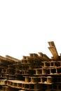 Rust H-beam Stock Image