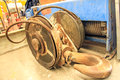 Rust hoist lifting heavy deterioration the very old and rusty Royalty Free Stock Photos